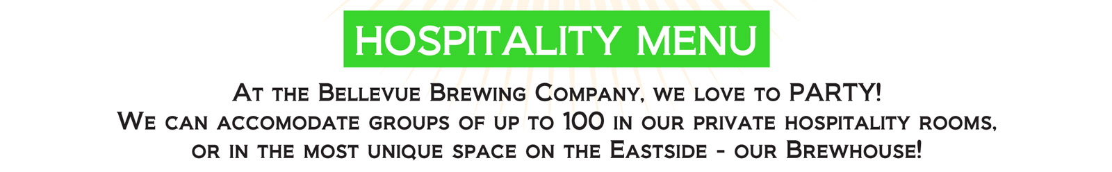 bellevue brewing company hospitality suites food order page  image